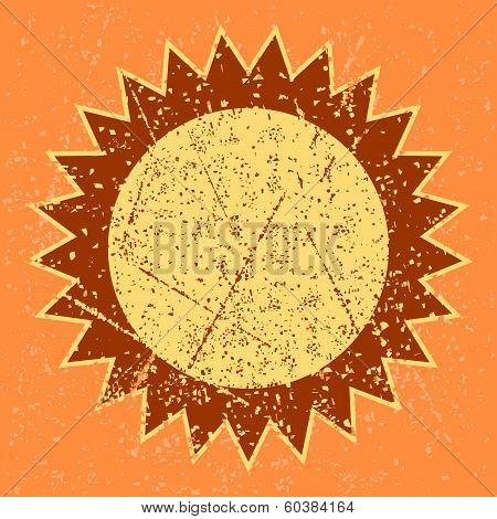 grunge sun