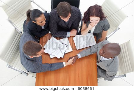 Handshake In A Meeting Business