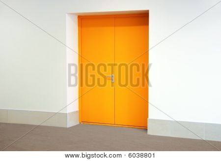 Yellow Metallic Door