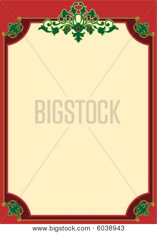 Christmas Scroll Border