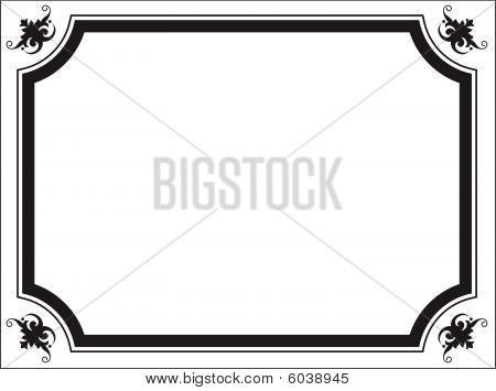 Scroll Border Ornament Frame