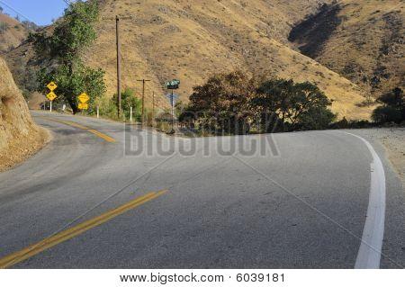 A narrow mountain road