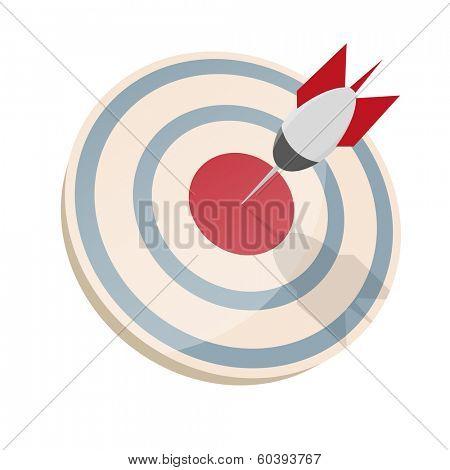 dartboard with dart in bullseye