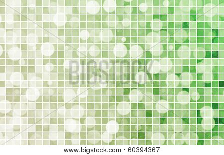 Fizzy Drink Background with Bubbles and Tiles