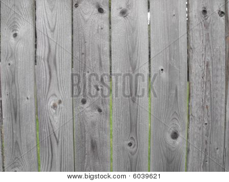 Wood Fence, Weathered Gray