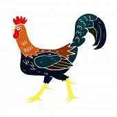 picture of cockerels  - cartoon cockerel - JPG