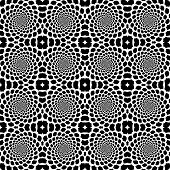 stock photo of uncolored  - Design seamless monochrome helix movement snakeskin pattern - JPG