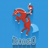 stock photo of bucking bronco  - Rodeo poster - JPG