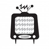 black and white retro tv