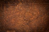 stock photo of spines  - Antique Old Leather as a Background Texture - JPG