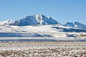 stock photo of sagebrush  - Winter in the Lemhi Valley and Mountains in Central Idaho - JPG