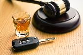 stock photo of whiskey  - the concept for drink driving - JPG