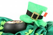 image of irish flag  - Saint Patrick day hat - JPG