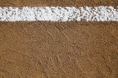 stock photo of infield  - Baseball Infield Chalk Line with room for copy and for Sports Background - JPG