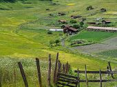 stock photo of greater  - Shenako village on the southern slope of the Greater Caucasus - JPG