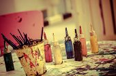 Watercolor Bottles