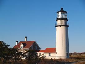 stock photo of cape-cod  - Cape Cod Lighthouse taken in Truro - JPG