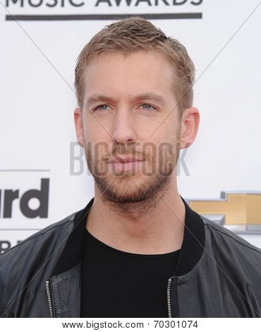 LAS VEGAS - MAY 18:  Calvin Harris arrives to the Billboard Music Awards 2014  on May 18, 2014 in Las Vegas, NV.