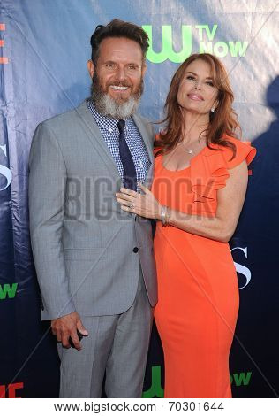 LOS ANGELES - JUL 17:  Mark Burnett & Roma Downey arrives to the CBS-CW-Showtime Summer TCA Press Tour 2014  on July7, 2014 in West Hollywood, CA.