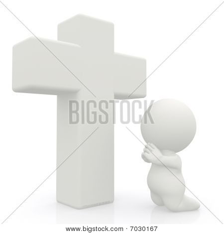3D Man Praying