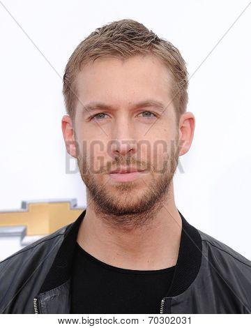 LAS VEGAS - MAY 18:  Calvin Harris arrives to the Billboard Music Awards 2014  on May 18, 2014 in Las Vegas, NV.
