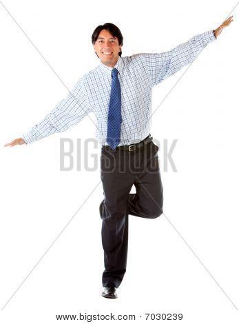 Business Man Keeping Balance