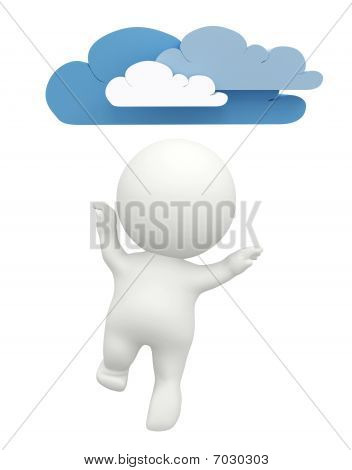 3D Guy With Clouds