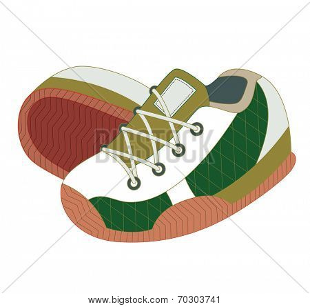 sport shoes isolated on white (vector illustration)