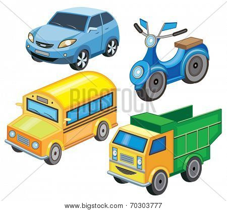 set icons of transport (vector illustration)