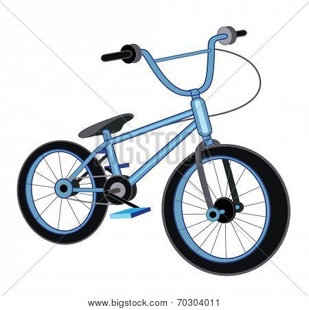 bicycle isolated on white background (vector illustration)