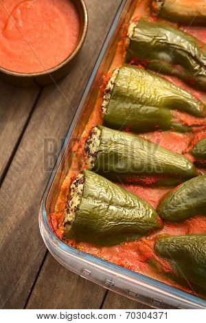 Hungarian Baked Stuffed Pepper
