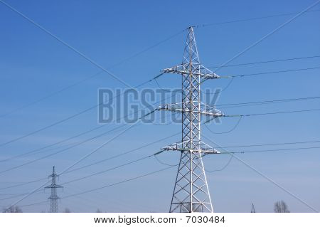 reliance power structure against the blue sky