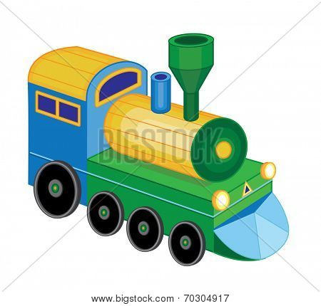 train isolated on white background (vector illustration)