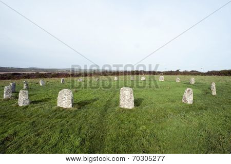 The Merry Maidens Stone Circle In Cornwall