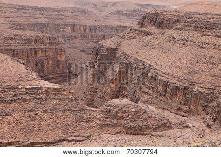 Canyon in Atlas Mountains, Morocco