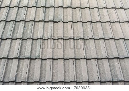 Black tiled roof for background