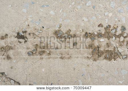 Concrete Surface, On Of The Road Were Demolished Due To Poor Construction