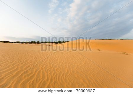 Sand hill in the morning at Phan Thiet , Binh Thuan province,  Vietnam