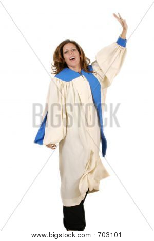 Joyful Woman In Praise