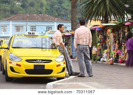 Taxi in Banos, Ecuador