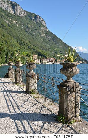 View to the lake Como