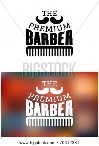 Retro barber shop emblem