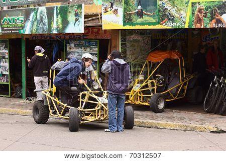 Buggy in Banos, Ecuador