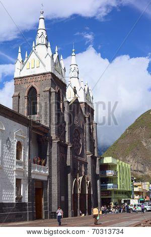 The Cathedral of Banos, Ecuador