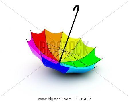 Colored umbrella