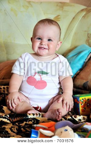 Funny Sitting Baby