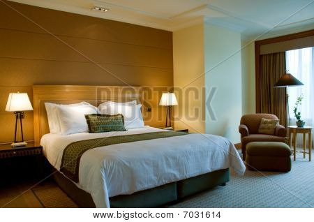 Classic bedroom of a 5 star luxury suite hotel
