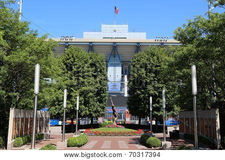 Arthur Ashe Stadium at the Billie Jean King National Tennis Center ready for US Open tournament