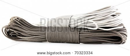 Different rope isolated on white