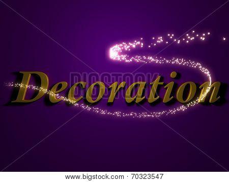 Decoration - 3D Inscription With Luminous Line With Spark